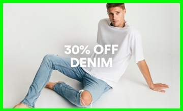 30% off Men's Denim. Shop Now.