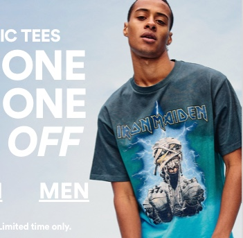 Graphic Tees. Buy One Get One 50% Off. Men's