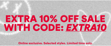 Extra 10% Off Sale with code: EXTRA10. Shop Now
