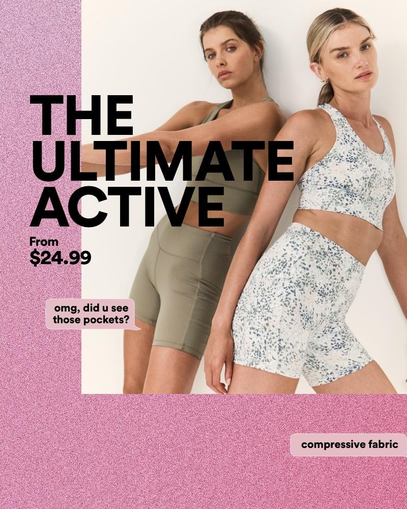 Women's Activewear. Shop Now.