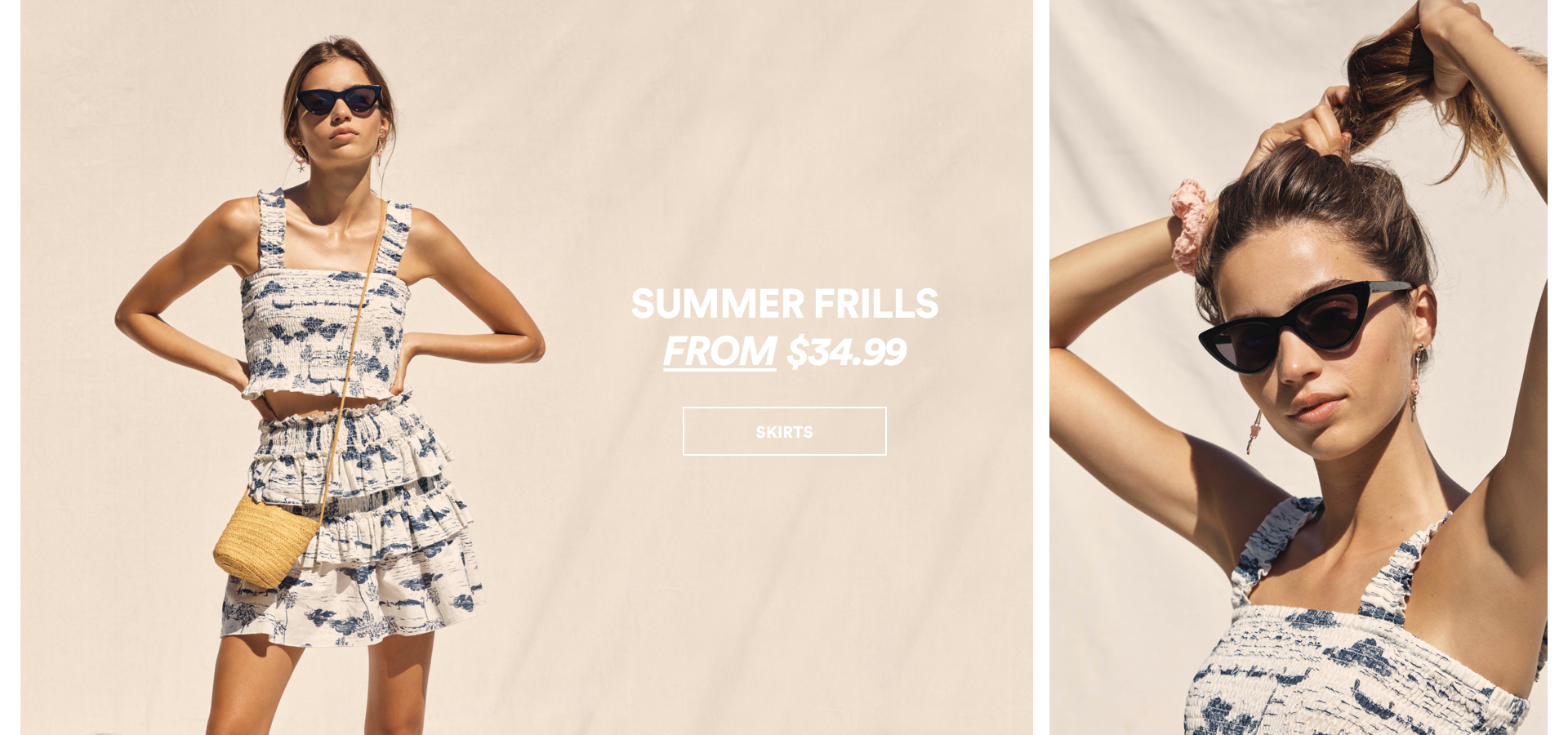 Summer Frills from $34.99. Click to Shop.