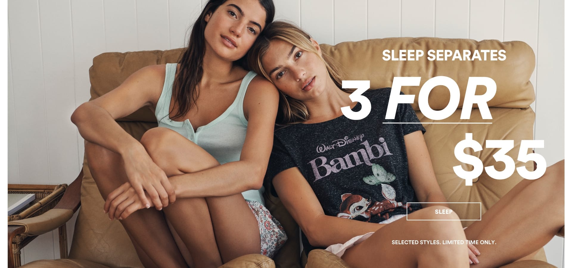 Cotton On. Sleep 3 for $35. Click to Shop