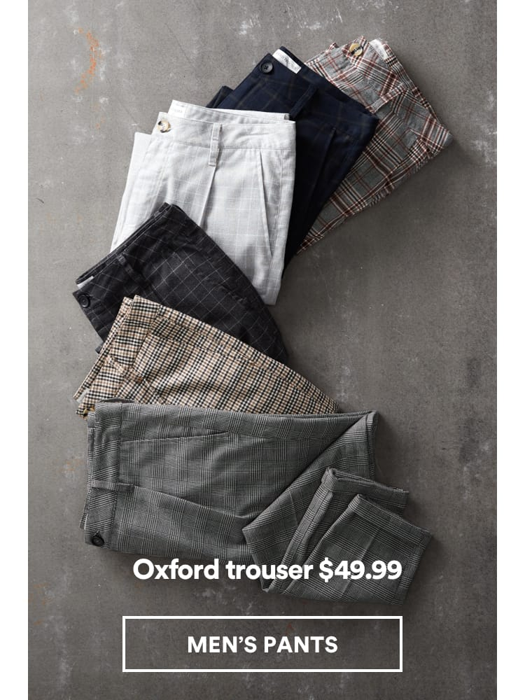Men's Oxford Pants. Shop Now.