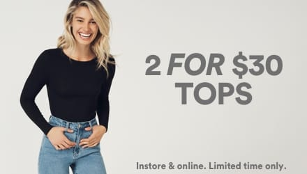 2 for $30 Tops. Click to shop