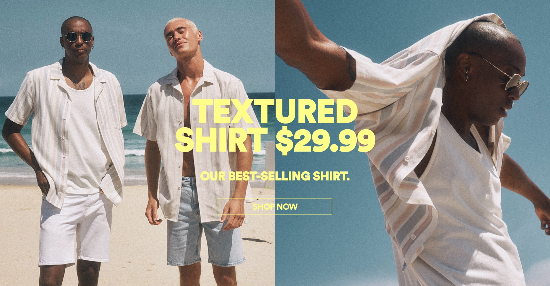 Textured shirt $29.99. Click to Shop Now.