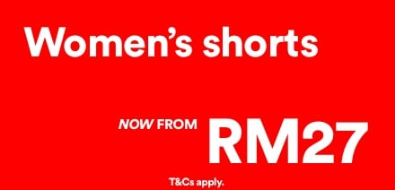 Women's Shorts, Now From RM27. Click to Shop