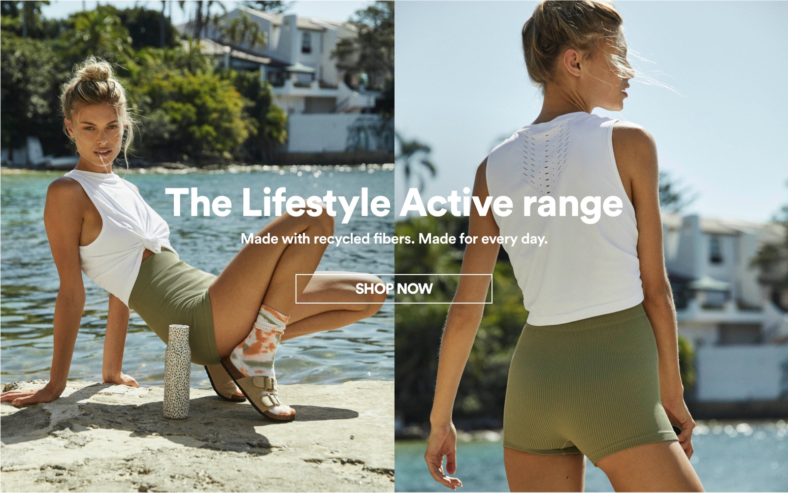 The Lifestyle Active Range. Made with recycled fibers. Made for every day. Click to Shop Now