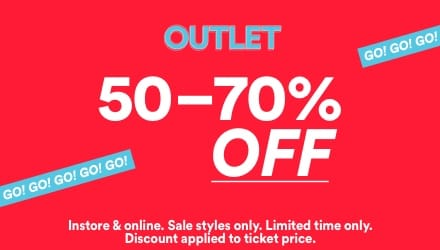 Outlet. Click to shop.