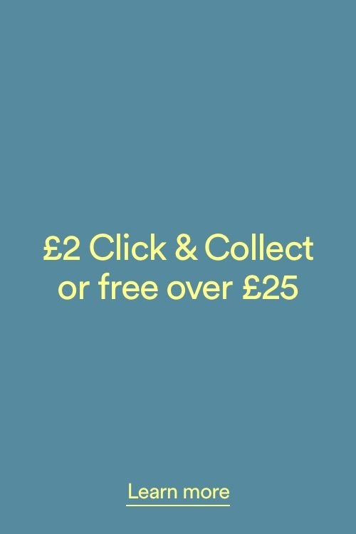 £2 Click and Collect or Free over £25. Click to Learn More.