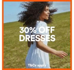30% off Dresses. Click to shop.