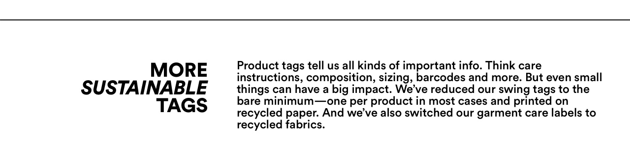 More Sustainable Tags