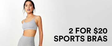 2 for $20 Sports Bras. Click to Shop.