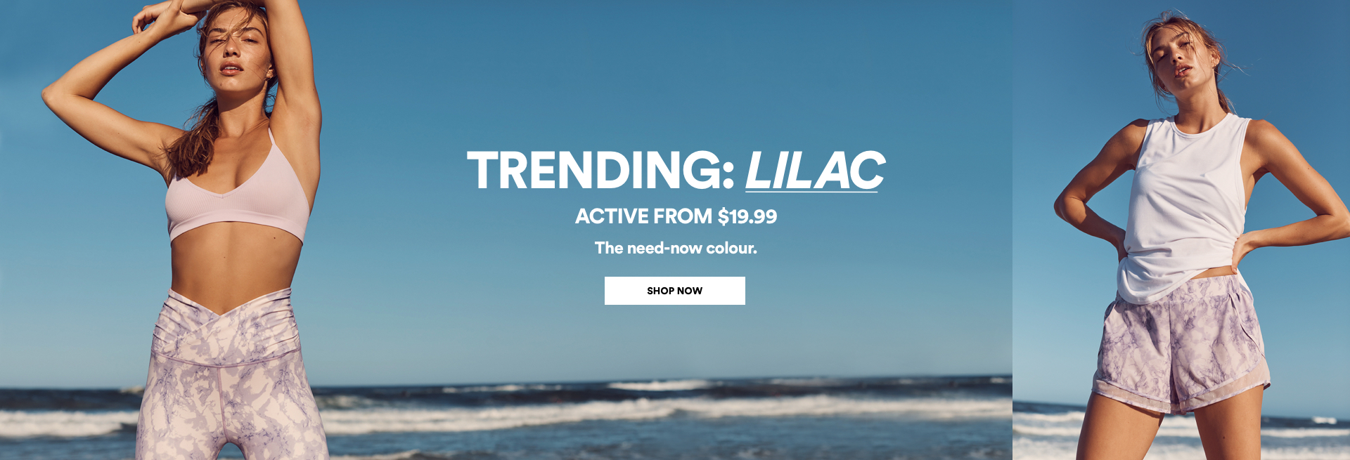 Trending: Lilac Activewear From $19.99. Click to Shop.