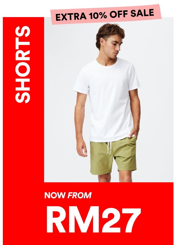 Men's Shorts now from RM27. Click to Shop.