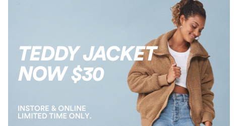 Cotton On. Teddy Jacket. Click to shop.