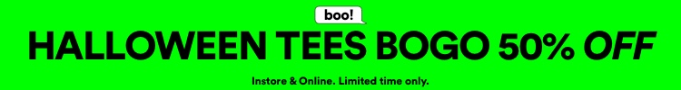 Halloween Tees BOGO 50% Off. Click to Shop.
