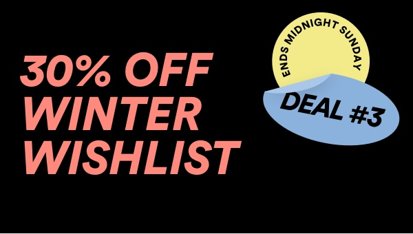 30% Off Winter Looks