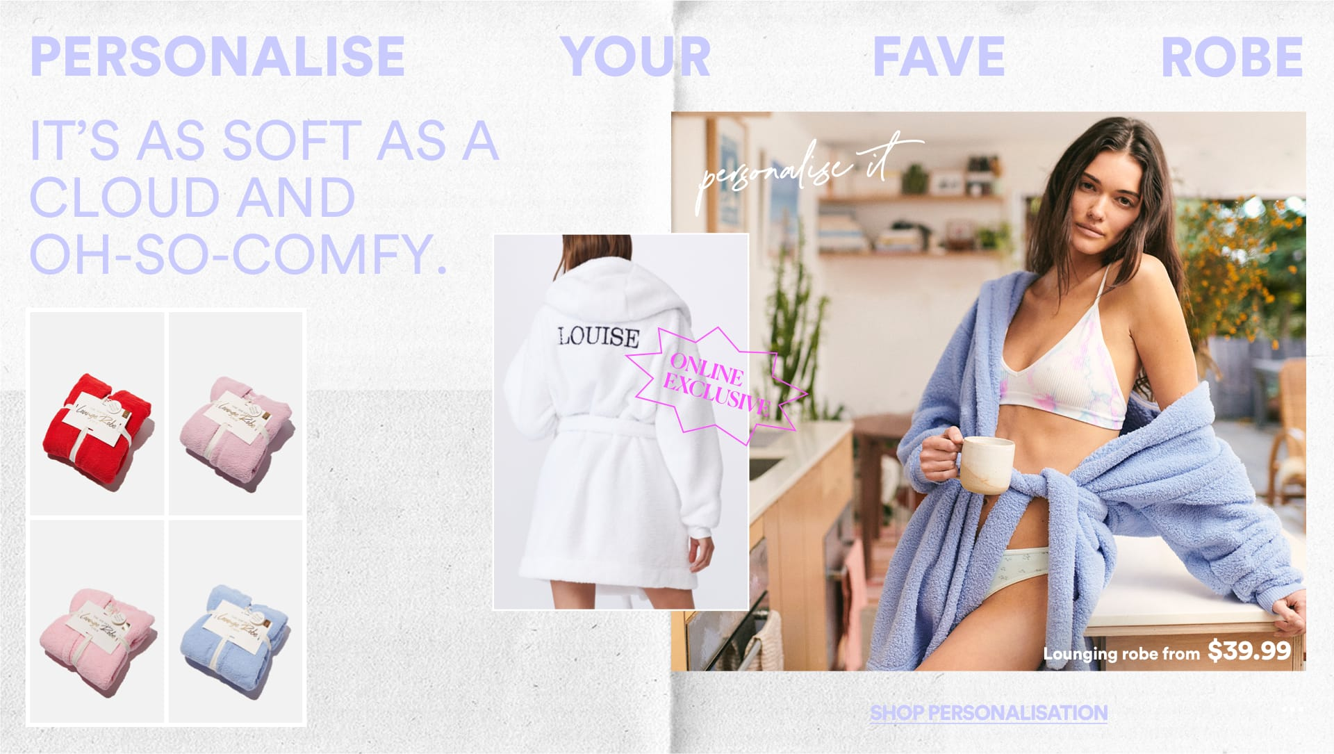 Women's Personalisation. Click to Shop.