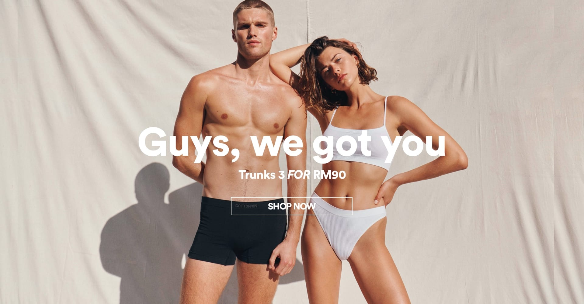 Guys we got you. New Arrivals Trunks. Click To Shop