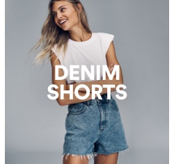 Women's Denim Shorts. Click to Shop.