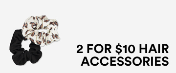 2 for $10 Hair Accessories. Click to Shop.