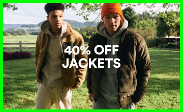 40% off Men's Jackets. Click to Shop.