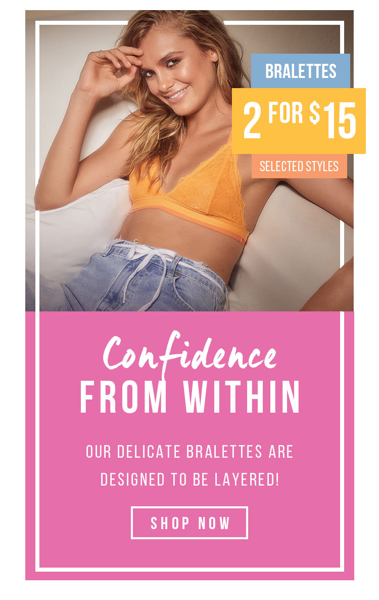 Confidence From Within | 2 for $15 Bralettes