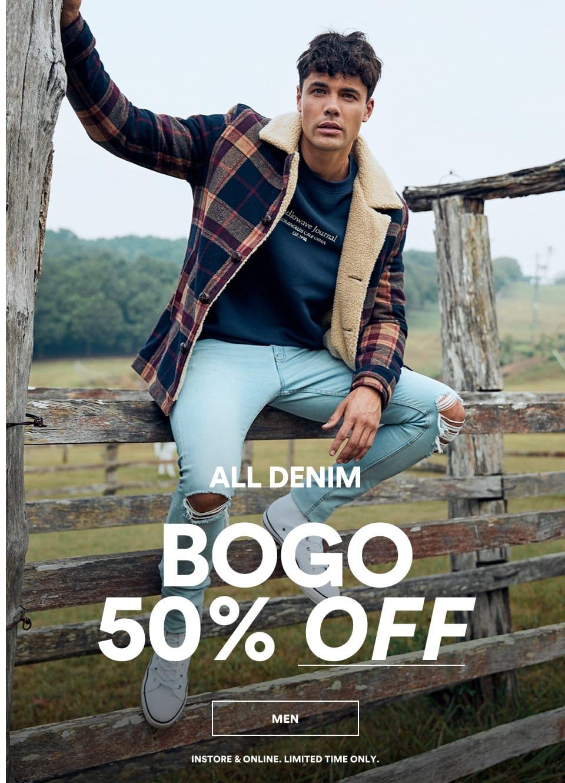 All Men's Denim 50% Off. Shop Now.
