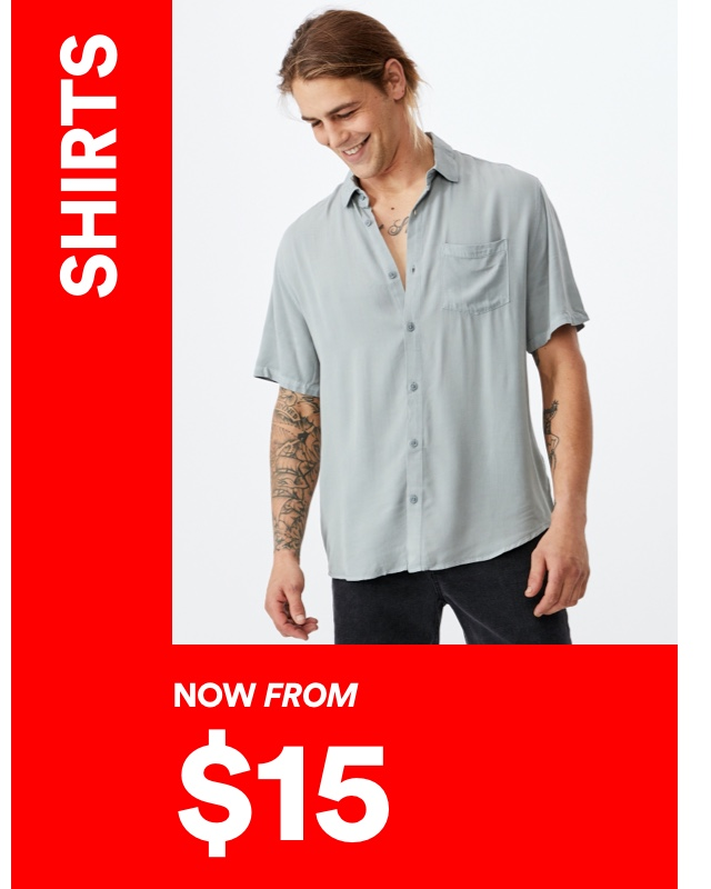 Mens Shirts NoW From $15