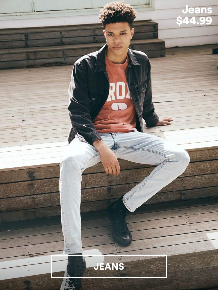 Men's Jeans. Click to Shop.