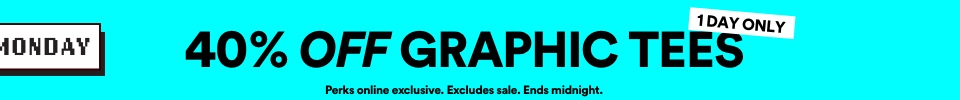 40% Off Graphic Tees | Click to Shop.