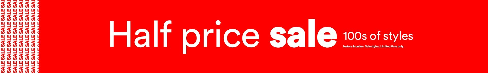 Sale up to 50% off original prices.
