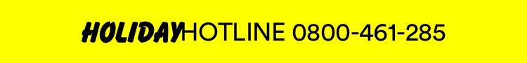 Holiday Hotline 800 461 285.
