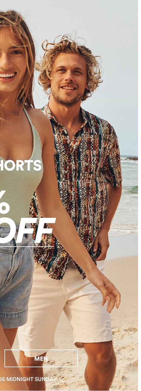 All Shorts 25% Off. Click to Shop
