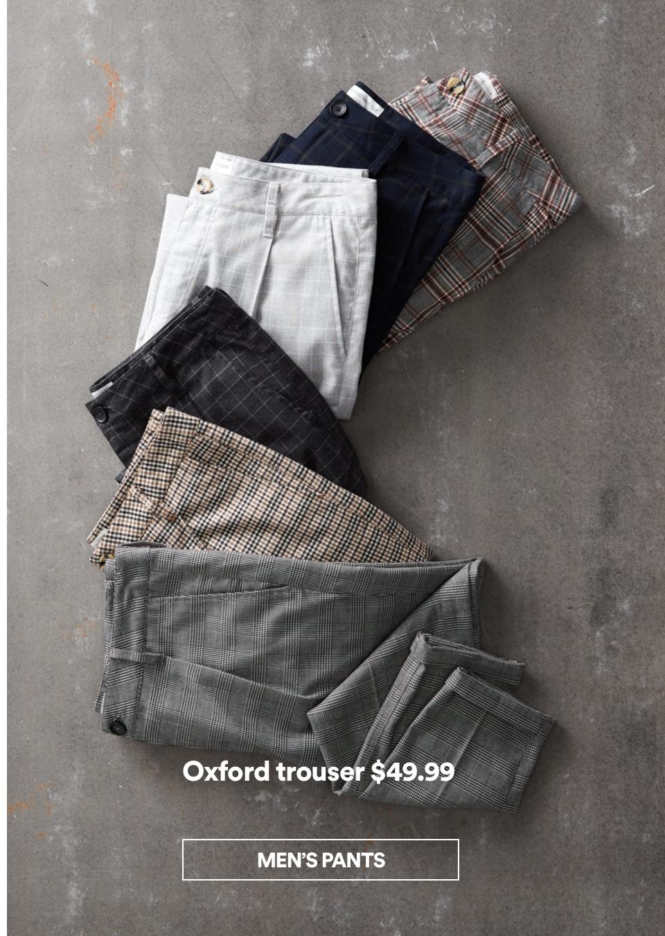 Men's Oxford Trousers. Shop Pants Now.