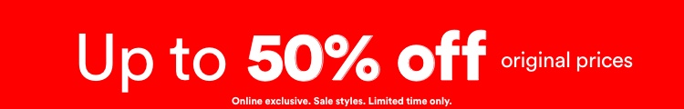 Up to 50% Off Sale. Click to Shop.
