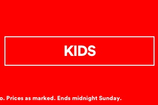 Up To 50% Off Sale. Click To Shop Kids