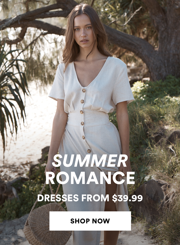 Dresses from $39.99. Click to shop.
