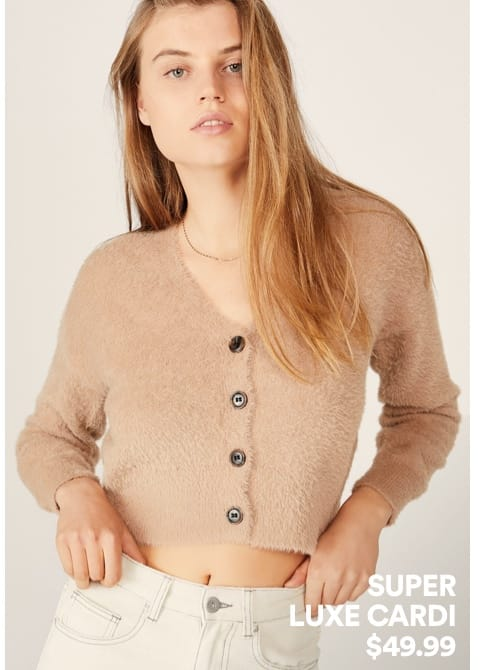 Super Luxe Cardi. Click to shop