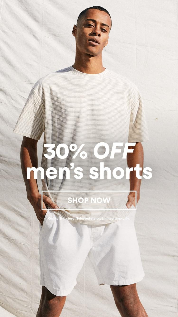 30% Off Mens Shorts. Shop Now.