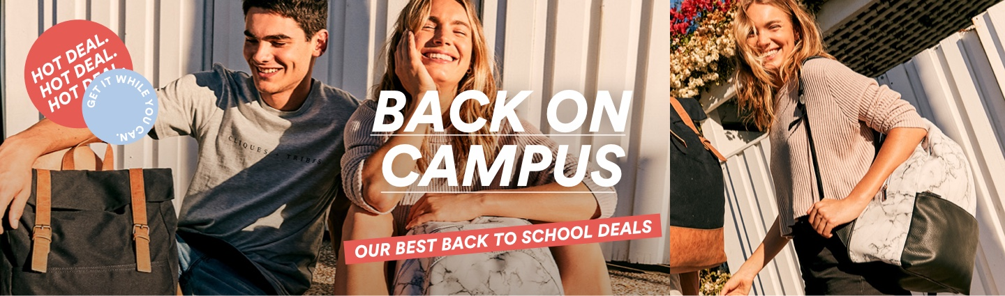 Back on Campus. Our Best Back to School Deals.