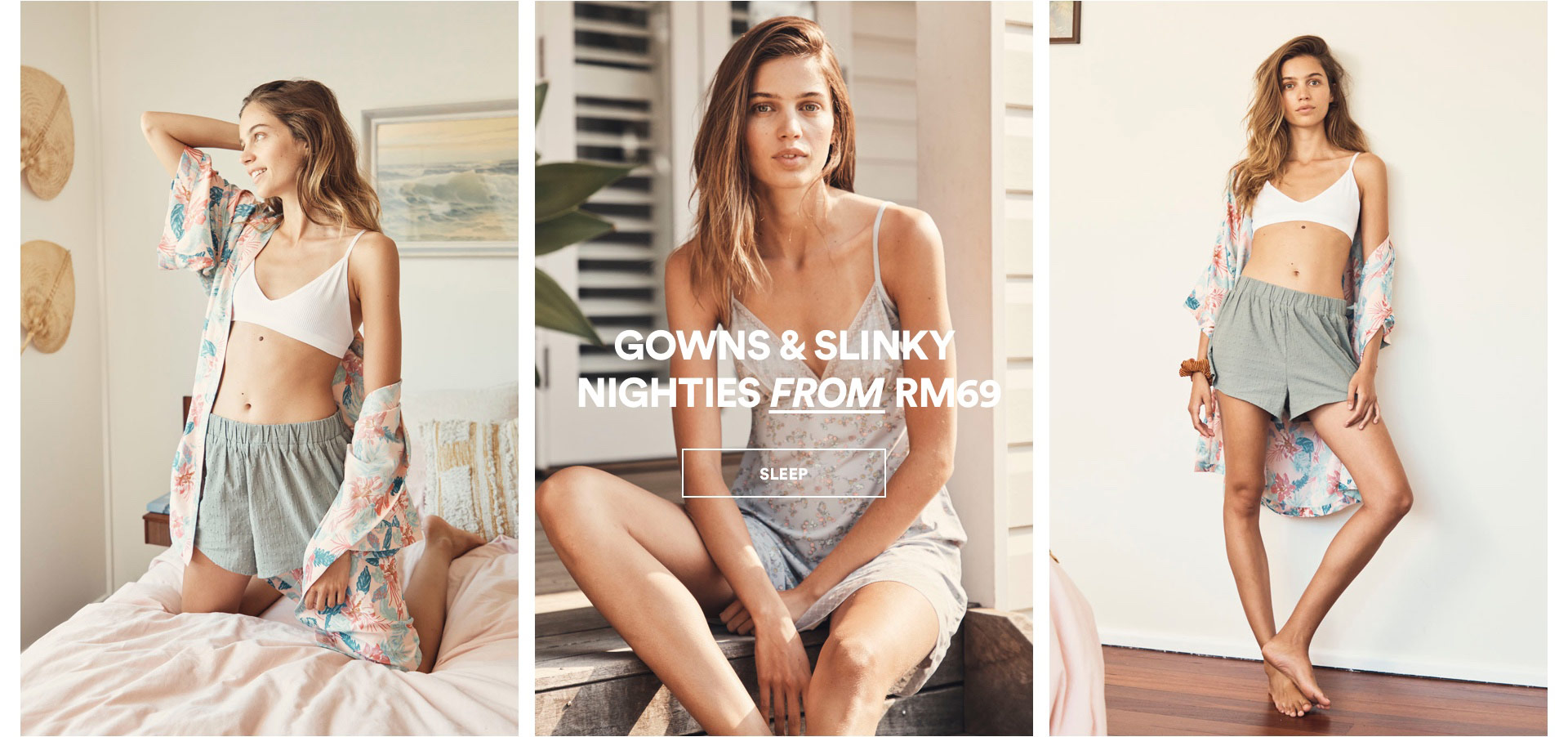 Gowns & Slinky Nighties. Click to Shop.