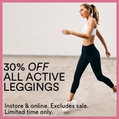 30% Off Active Leggings. Click To Shop