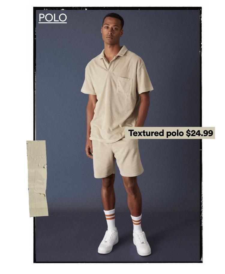 Men's Polos. Click to Shop.
