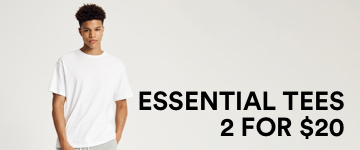 Men's Essential Tees. Click to Shop