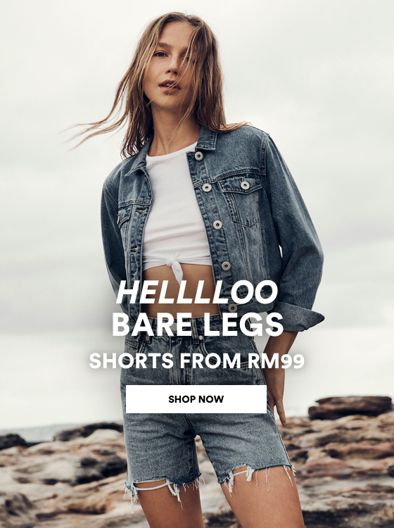 Women's Denim Shorts from RM99. Click to Shop Womens