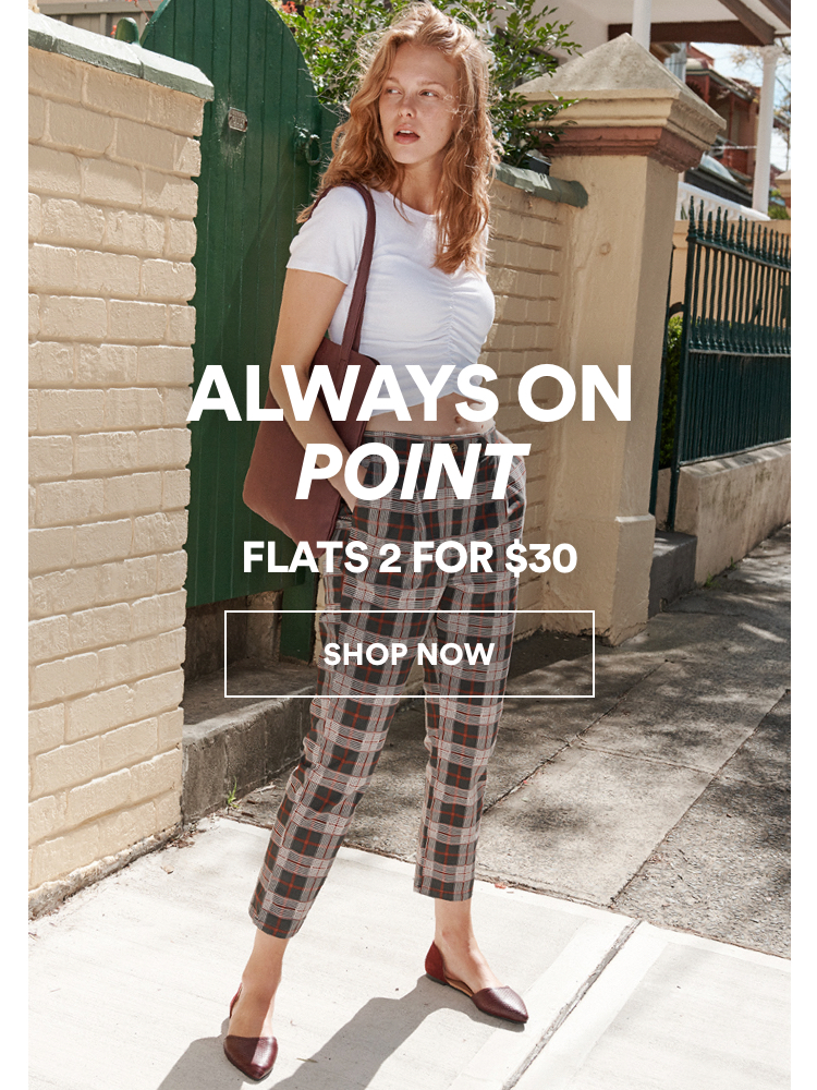 Always On Point, Flats 2 for $30. Click to Shop.