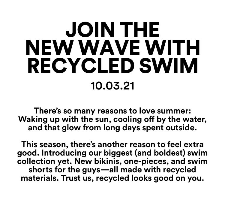Join the New Wave with Recycled Swim