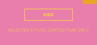 Limited Time Only! Extra 20% Off Sale. Selected Styles. Online Exclusive. Shop Kids