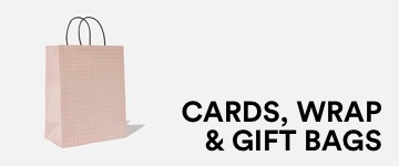 Cards, Wrap & Gift Bags. Click to Shop.